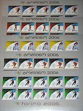 GEORGIA GEORGIEN 2005 Klb 490-94 B MS 374-88 imperf Olympics 2006 Turin MNH R
