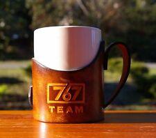 Boeing 767 Team Coffee Mug With Leather Handle & Holder