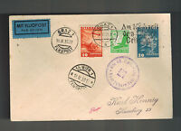 1938 Graz Germany Austria Anschluss Cover Mixed Franking to Hamburg