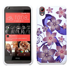 HTC Desire 626 s 530 Hybrid Protective ShockProof Rubber Hard Case Cover Flowers