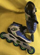 Hyper Racing Inline Speed Skates Reflex Size 8? Blue Grandprix 80mm Soft Wheel