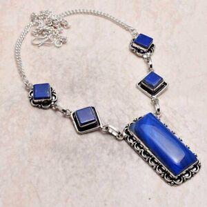 Botswana Agate Lapis Lazuli Ethnic Handmade Necklace Jewelry 36 Gms AN 95045