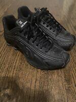 Nike Shox NZ 6.5Y Classic All Black Rare