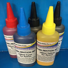 5 SUBLIMATION HEAT TRANSFER INK EPSON EXPRESSION XP 530 630 635 830 900 NON OEM