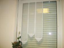 Scheibengardinen Weiß 60cm  Balkontür Zipfel 120,110,100cm  Fenster Terasse