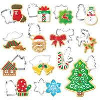 Xmas Stainless Steel Biscuit Pastry Cookie Cutter Cake Decor Baking Mould Tools