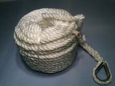 "Aamstrand  Anchor Line 3 Strand Twisted Nylon White 3/8"" 100'"