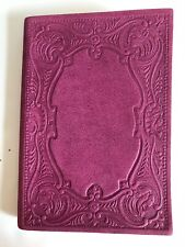 Fiorentina Suede Journal Magenta Embossed Ornate Made in Italy