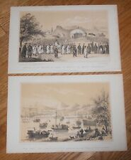 Lot of 2 Antique Prints of China ca.1847 from History of China by J. Corner