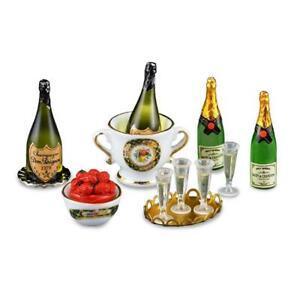 DOLLHOUSE Deluxe Champagne Celebration 1.892/6 Reutter Miniature