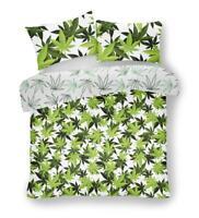 Single Duvet Cover Set Cannabis Marijuana Leaf Weed Print Quilt Covers Bedding