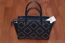 NWT Michael Kors $498 Diamond Grommet Selma Medium Satchel Handbag Admiral Navy