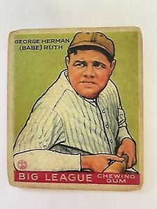 Babe Ruth 1933 Goudey #181 Vintage Classic Yankees Baseball Card UNGRADED