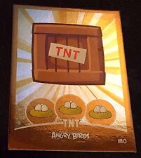 ANGRY BIRDS 2012 GOLD Foil TNT Chase Trading Card # 180 SP Rare 1 Per BOX HTF!!