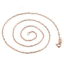 Ladies Attractive 18K Rose Gold GP Fashion Wave Chain Necklace Jewelry A1159
