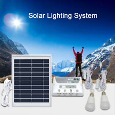 4.5W Solar Mobile Lighting System Camping Home Emergency Light USB Phone Charge