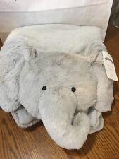 Pottery Barn Kids Baby Gray Elephant Plush Play Mat New! No Monogram