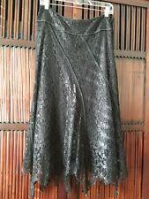 NWOT Mark Shale Black Lace Skirt Sz 6 simply Gorgeous