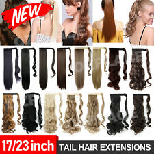 AU Clip In Ponytail Pony Tail Hair Extension Fake Hair Pieces Long curl wavy NEW