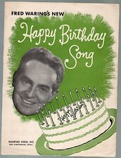 Happy Birthday Song 1950 Fred Waring Jolly Green Giant Sheet Music