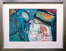 Bela Szilardi 1940 Budapest: Ausstellungsbild Stilleben, Acryl 50 x 70 cm, 1988
