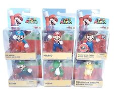 Super Mario Jakks Pacific Figure Lot of 6 Mario Luigi Yoshi Red Koopa Troopa