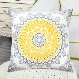 "CaliTime Cushion Covers Throw Pillows Shells Dahlia Floral Decor 18"" 16"" 20"" 22"""