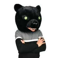 Adult Dress Black Panther Mascot Custome Fursuit Cosplay Animal Mask Halloween #
