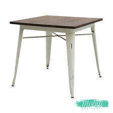 Tavolo Moderno Quadrato Piano Legno Bianco Anticato - SPEDIZIONE GRATUITA
