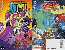 TEEN TITANS GO SCOOBY DOO TEAM UP FCBD FREE COMIC BOOK DAY GIVEAWAY PROMO FLIP