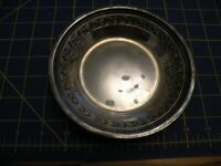 Silver Plated Reed & Barton 1204 7'' Round  Embossed Serving Dish CLASSIC ROSE
