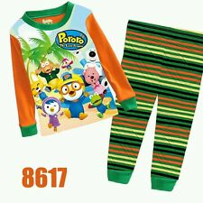 Pororo (Orange Green) Cuddleme Long Sleeves Pyjamas 2T-7T