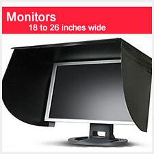 Universal Large Computer Monitor Sun Shade Visor 18 to 26 Inch Screens