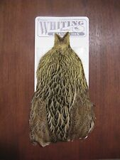 Fly Tying Whiting Brahma Hen Cape Pale Yellow #C