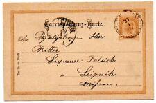 Austria 1891 2Kr Postal Stationery card to Leipnik