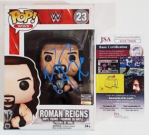 ROMAN REIGNS SIGNED WWE FUNKO POP FIGURE W/JSA CERT WRESTLING WWF