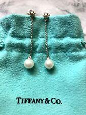 Tiffany & Co. Drop Pearl Earrings, Sterling Silver, 2016