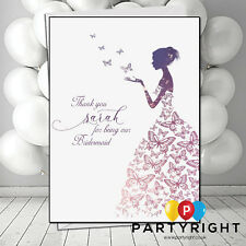 Personalised Thank You Bridesmaid Maid Of Honor Card Butterfly