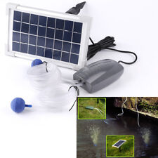 2.5w Solar Powered Charging Oxygenator Pond Water Oxygen Pump Air Stone Aerator