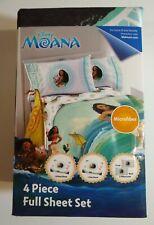 Disney Moa 0000227A na 4 Piece Full Size Sheet Set New