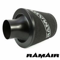 RAMAIR Universale Filtro Aria 60mm Od Alluminio Aspirazione Induzione Cono Nero