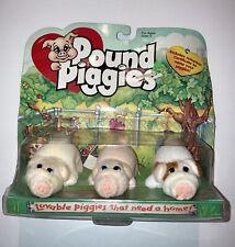 POUND PIGGIES • Set Of Three • Adoption Certificates Included! • Original Pkg.
