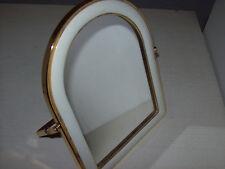 kleiner Spiegel Standspiegel weiß gold ca. 22 x 17 x 1 cm