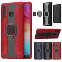 For Samsung Galaxy A50 A20 A30 Shockproof Magnetic Armor Stand Hard Case Cover