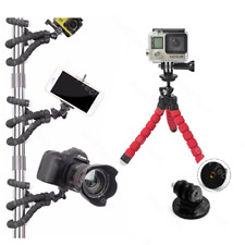 For GoPro HERO4 Silver Action Cam Camera Flex Tripod Gorilla Mount Stand in RED