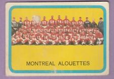 1963 TOPPS CFL MONTREAL ALOUETTES TEAM PHOTO CARD  G/ VG