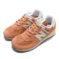 New Balance WL574ESF B Orange White Women Running Casual Shoes Sneaker WL574ESFB
