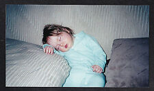 Vintage Photograph Adorable Little Baby Sound Asleep on Couch / Sofa
