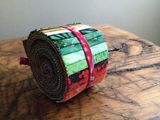 Anthology Batik Fabric Rollups, Strips, Jelly Roll, BA212-161, Quilting, Precuts