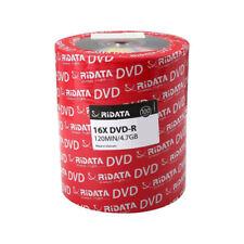 100 RIDATA DVD-R DVDR LOGO BRANDED 16X 4.7GB BLANK MEDIA DISCS - FREE SHIPPING